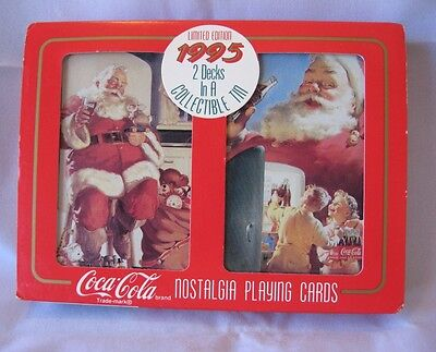 USA DRINK COCA-COLA 2 SEALED DECKS PLAYING CARDS w/COLLECTOR TIN LIMITED EDITION