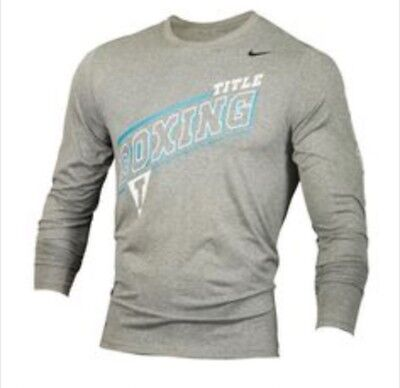 NIKE Title Boxing LONG Sleeve Dri-Fit Shirt XL Nike Dri fit Longsleeve X-Large