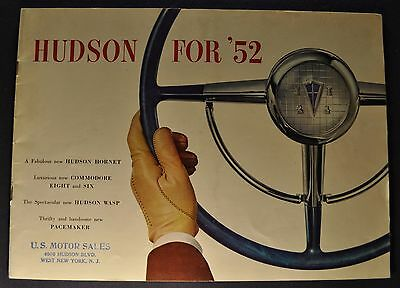 1952 Hudson Catalog Brochure Commodore Wasp Pacemaker Excellent Original 52