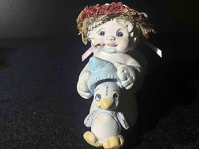 Dreamsicles Figure Decoration Home Decor Collectible Angel Penguin Wings Blue