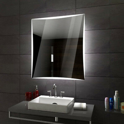PALERMO Illuminated Led bathroom mirror  Custom Size Variants To Measure