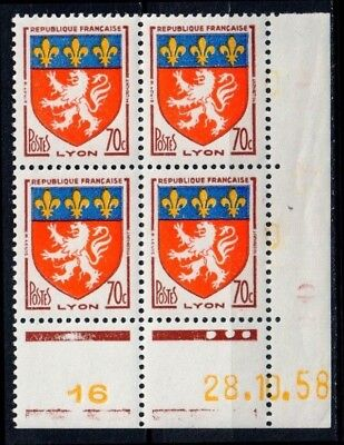 4 Timbres Neufs Y&t N° 1181 - Coin daté [ref.10278]