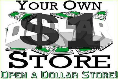 Open Your Own One Dollar Store Starter Package w/General Merchandise & Support