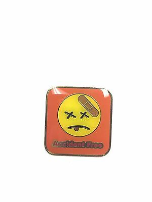 Rare Accident Free Smiley Face Lapel Pin Pinback Brand New