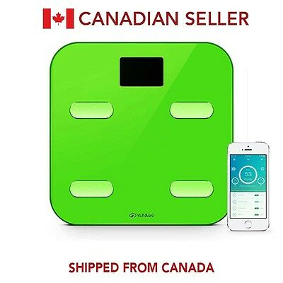 Yunmai Wireless Bluetooth Smart Scale Weight Body Digital BMI IOS Android GREEN