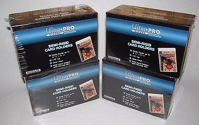 """Lot (4) Ultra-Pro Semi-Rigid 1/2"""" Lip Sleeves 200 Ct Pack Boxes 800 Total New"""