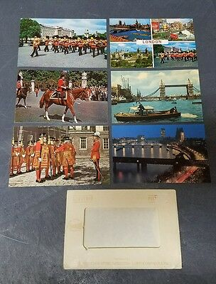 Vintage Postcard Set of 6 Assorted Sights of London, England Early 1950's