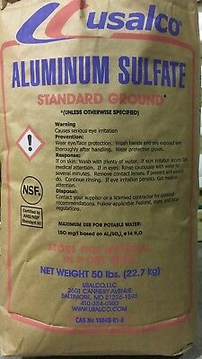 Aluminum Sulfate [Al2(SO4)3] 99% PURE MIN. 50lb bag