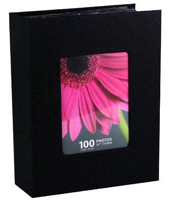 Photo Album Holds 100 pieces 5 x 7 Inch Photos Black Kiera Grace Picture Storage