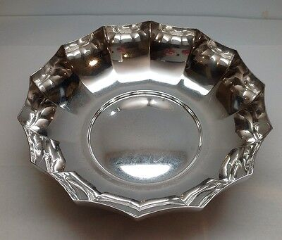 """TIFFANY & CO. Makers Sterling Silver Inverted Scalloped Bowl 7 3/8"""""""