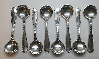 """8 TIFFANY & CO. Marquis 1902 Sterling Silver Large Chocolate Spoons 5 1/4"""""""