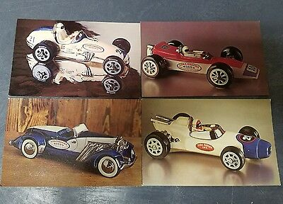 Ezra Brooks Race Car Decanter Postcards Set of 4