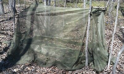 New Large US Military Mosquito Insect Net Bar Cover Canopy Field Camping