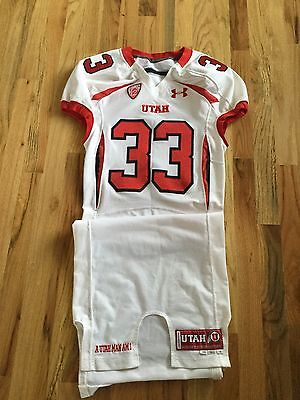 2011 Terrell Reese UTAH UTES GAME USED Worn FOOTBALL JERSEY Under Armour
