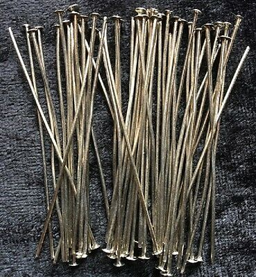 Head Pins - Silver - 50Mm - 50 Pieces - New