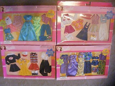 Mattel Barbie LOT OF 4 FASHION PACKS ALL NRFB  with  24OUTFITS MIX N MATCH SHOES
