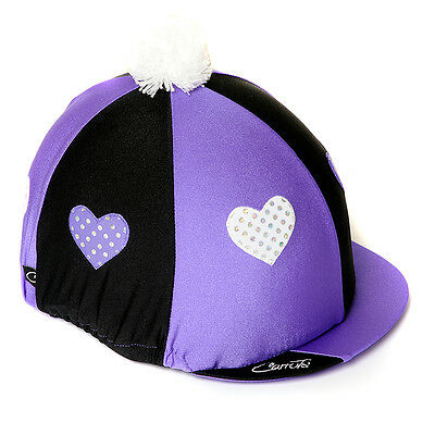 Carrots Hat Cover Purple Hearts Horse And Equestrian