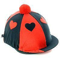 Carrots Hearts Hat Cover Red/black Horse And Equestrian