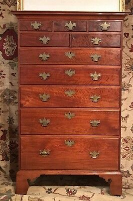Genuine Antique 18th Century 1740 - 1760 Tall Walnut Chest Great Condition