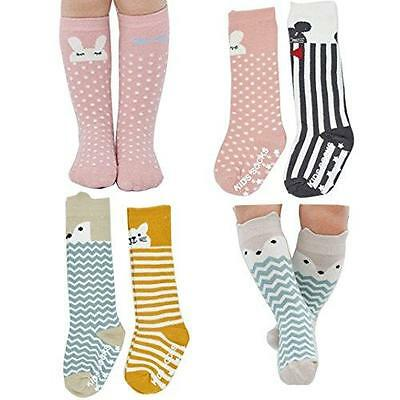 Assorted Non Slip Unisex Baby Girls Boys Toddler Cartoon Animal Cotton Knee New