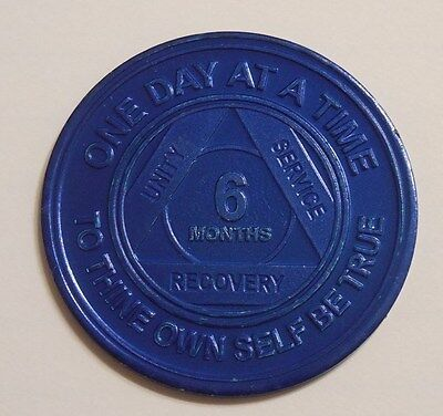 aa alcoholics anonymous 6 month recovery sobriety chip coin token medallion