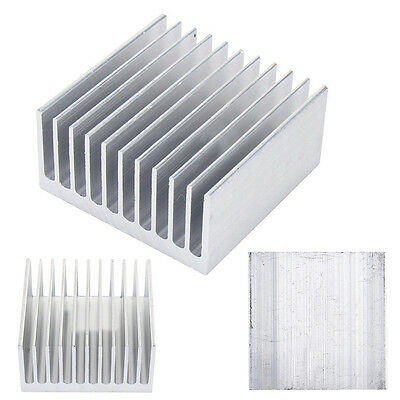 1 Piece New White 11 Tooth 40mm*40mm*20mm Aluminium Radiator Heatsink Heat Sink