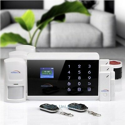HOMSECUR Wireless&wired WCDMA 3G Home Security Alarm System With IOS/Android APP
