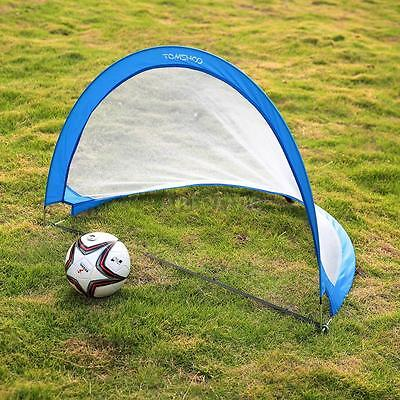 Pair Of Pop Up Soccer Goal Portable Soccer Nets with Carry Bag 2.3'/4'/6' G0K4