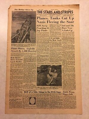 Stars and Stripes March 20, 1945 U.S at Odds On Meat Stock, B29s Punching Plants