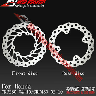 Front & Rear Brake Disc Rotor Fit Honda CRF250 2004-2010 CRF450 CRF 450 02-2010