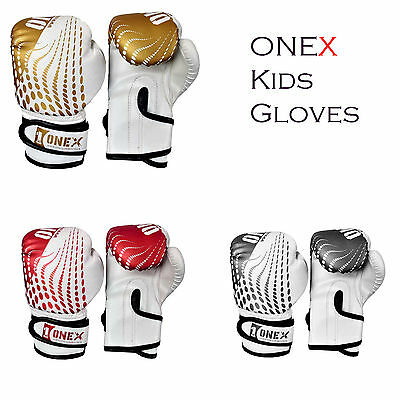 4oz Kids Boxing Gloves PunchingTraining Boxing Bag Mitts Pad Gloves MMA Sparring