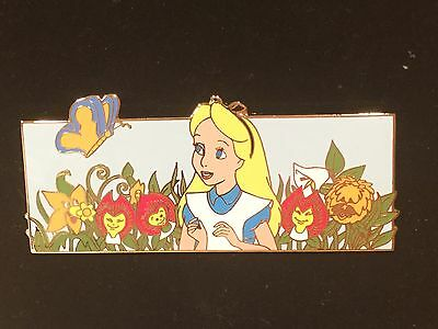 Disney Auctions Alice In Wonderland Bread Butterfly Flowers Pin LE 100 RARE