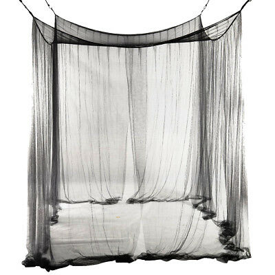 4-Corner Bed Netting Canopy Mosquito Net for Queen/King Sized Bed 190*210*2 G5D6