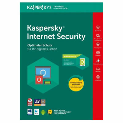 Kaspersky Internet Security 2018 2 PC Geräte 1Jahr Vollversion Key ESD E-Mail