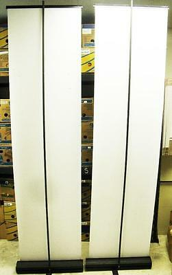 """2 Retractable Roll Up Banner Stands 23"""" x 86"""" Trade Show Signage Display w/ Case"""