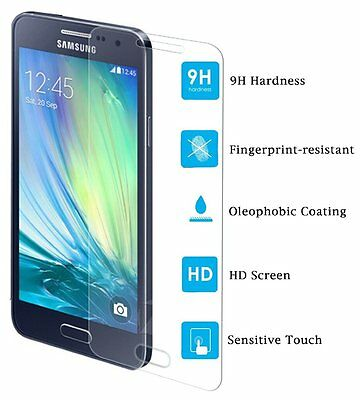 GENUINE TEMPERED GLASS SCREEN PROTECTOR 9H FILM FOR Samsung Galaxy A3 SM-A300F