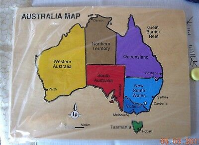 Wooden Map of Australia puzzle