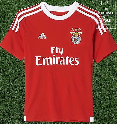 Benfica Home Shirt - Official adidas Boys Football Shirt - All Sizes