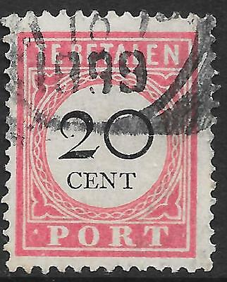 "Netherlands Indies stamps 1892 NVPH Due P18fa ERROR ""Punt-PORT"" CANC  VF"