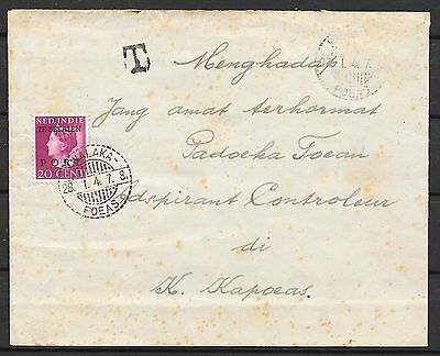 Netherlands Indies covers 1946 NVPH Due P51 cover KWALAKA-POEAS