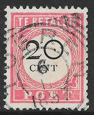 Netherlands Indies stamps 1892 NVPH Due P18 shifted 20c  CANC  VF
