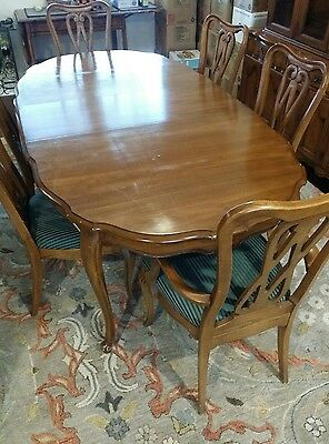 Vintage Dining Room Set by White Fine Furniture - 9 Piece