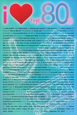 I Love the 80s Greatest Movie Quotes Poster Wall Decor Home Bedroom LivingRoom