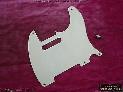 Vintage 1955 Fender Telecaster single ply pickguard 1954 1956 1957 1958 1959