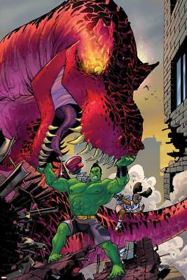Moon Girl and Devil Dinosaur No. 4 Cover Featuring Devil Dinosaur, Totally Wall