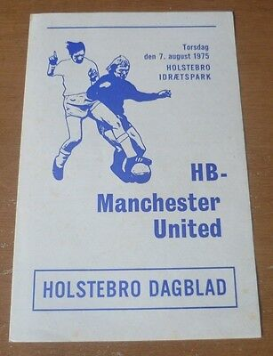 HB v Manchester United, 1975/76 - Friendly Match Programme.