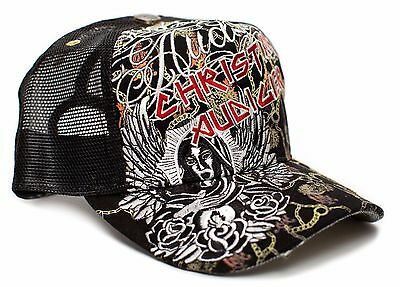 Christian Audigier Maiden One-size Unisex-adult Truckers Cap Hat Black