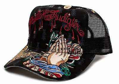Christian Audigier Faith One-size Unisex-adult Truckers Cap Hat Black