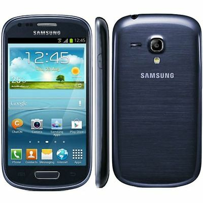 "SAMSUNG GALAXY S3 S III MINI GT-I8190 8gb Blue Unlocked 4.0"" Android Smartphone"