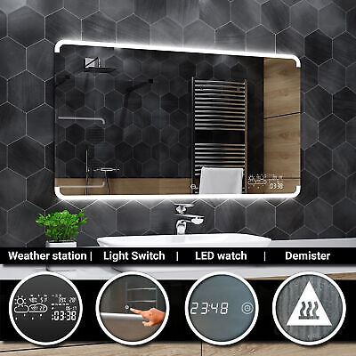 ASSEN Illuminated Led bathroom mirror  - Weather Station - Switch - Demister